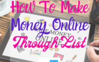 How To Make Money Online Through List